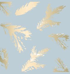 Chic winter pastel gold print vector