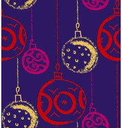 Christmas bauble background Seasonal winter vector