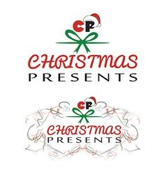 Christmas presents logo vector image