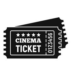 Cinema ticket icon simple style vector