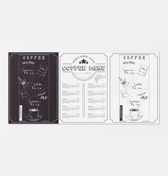 coffee menu design vector image