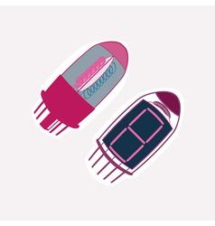 color icon setwith radio tubes vector image