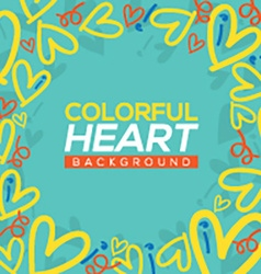 Colorful Hearts Background vector image
