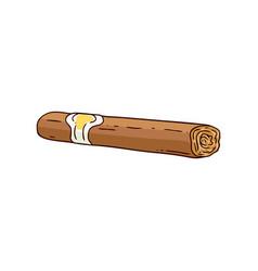 cuban havana luxury cigar sketch icon vector image