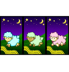 Cute little lambs vector image