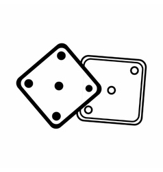 Dice icon outline style vector