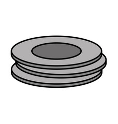 Dishes icon image vector