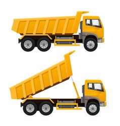 dumper truck vector image