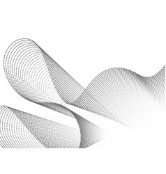 dynamic wave particles black and white abstract vector image