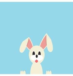 Easter bunny ears card vector image