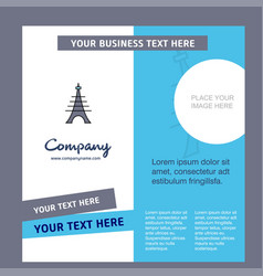eiffel tower company brochure template busienss vector image