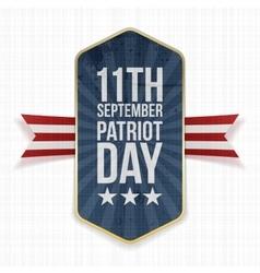 Eleventh September Patriot Day Label vector image