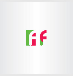 f letter logotype sign element vector image