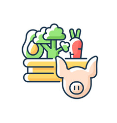 Food and agriculture rgb color icon vector