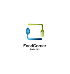 food corner abstract logo vector image