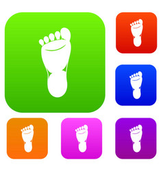 foot left leg set collection vector image