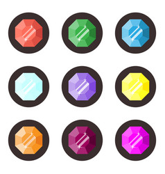 gemstones icons set vector image
