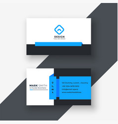 Geometric blue business card professional design vector