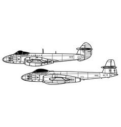 Gloster meteor f vector