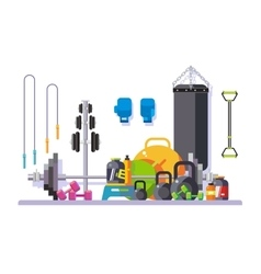 Gym flat style vector image