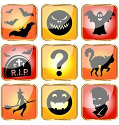 Halloween avatars small vector image