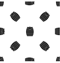 Honey keg pattern seamless black vector