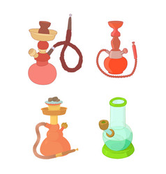 hookah icon set cartoon style vector image