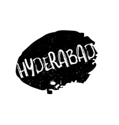 hyderabad rubber stamp vector image