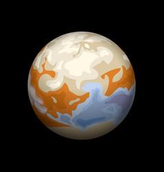 Io planet icon isometric style vector