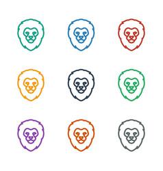 Lion icon white background vector