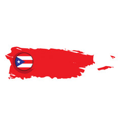 map of puerto rico with a label vector image