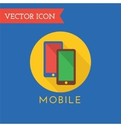 Mobile Icon Logo Shop Money or Commerce vector