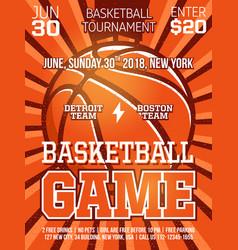 modern professional sports design poster vector image