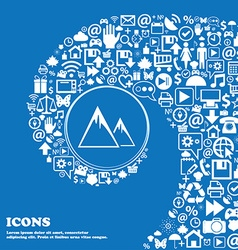 Mountain Icon Nice set of beautiful icons twisted vector image