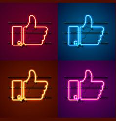 Neon sign color set vector