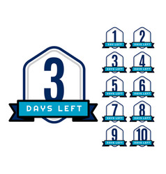 Number of days left countdown timer for sale and vector