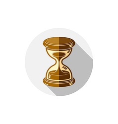 Old-fashioned simple 3d hourglass time management vector image