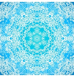 Ornate blue doodle seamless pattern vector image