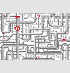 piping pattern maze tubes cranes vector image