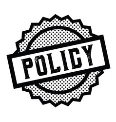 Policy stamp on white vector