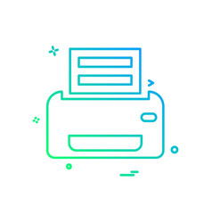 printer icon design vector image