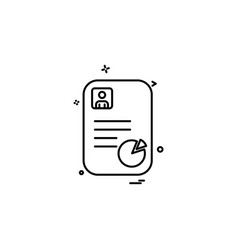 profile document design vector image