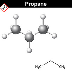 Propane chemical natural gas component vector image
