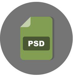 Psd icon vector