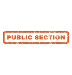 Public Section Rubber Stamp vector image