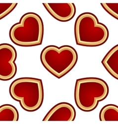Seamless background of hearts vector