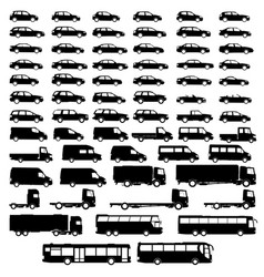 set car silhouette vector image