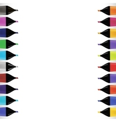 Set od colorful markers vector