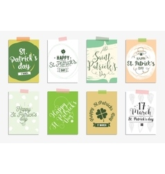 Set of cards for St Patricks day Typographic vector image