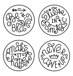 Set of handwritten inspirational quotes vector image